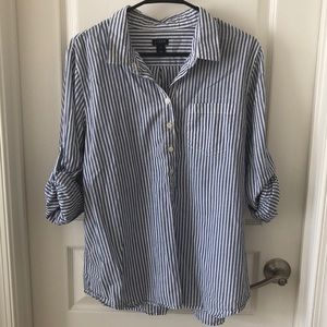 J. Crew striped three quarter button down